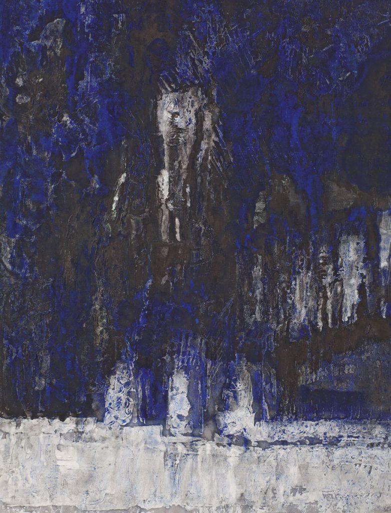 Michael Morgner, Waldrand-Abend (Einsiedel), Ausschnitt, Tusche, Deckfarbe, Latex auf Papier, 1985 @VG Bild-Kunst, Bonn 2018